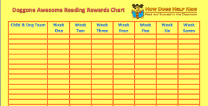 Reading Rewards Chart for Teachers